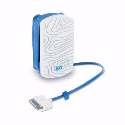Picture of Trade iGo Wired Mfi Apple 30 Pin UK 1A Mains Charger in White/Blue