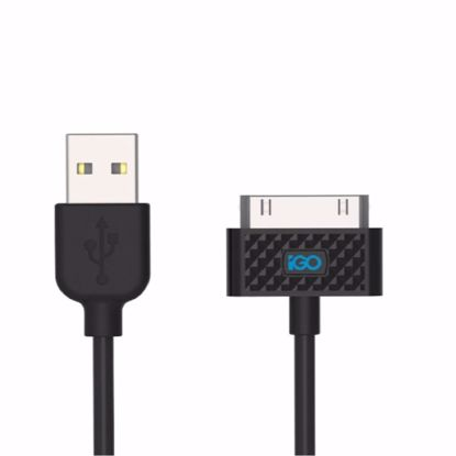 Picture of Trade iGo 1m Apple 30 Pin Charge and Sync Cable in Black