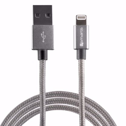 Picture of 4smarts 4smarts RAPIDCord 2m Apple Lightning Cable in Grey