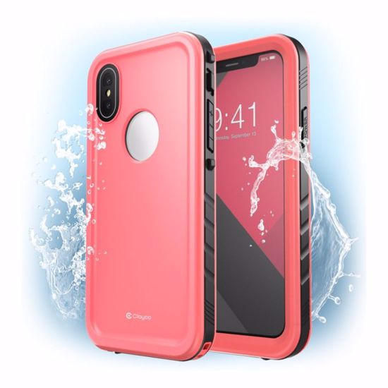 info for 1a22b fdd16 Clayco Clayco Omni Waterproof Case with Screen Protector for Apple iPhone  XS Max in Pink