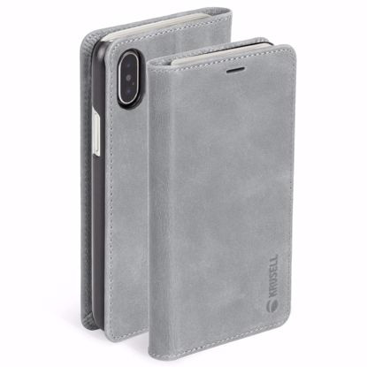 Picture of Krusell Krusell Sunne 4 Card Folio Case for Apple iPhone XS/X Max in Grey