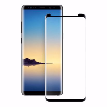 Picture of Eiger Eiger 3D GLASS Case Friendly Glass Screen Protector for Samsung Galaxy Note 9 in Clear/Black