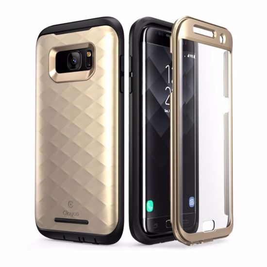 Clayco Clayco Hera Case with Built-In Screen Protector for Samsung Galaxy  S7 Edge in Gold