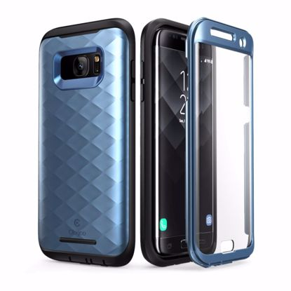 Picture of Clayco Clayco Hera Case with Built-In Screen Protector for Samsung Galaxy S7 Edge in Blue