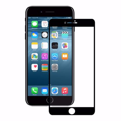 Picture of Eiger Eiger 3D GLASS Full Screen Tempered Glass Screen Protector for Apple iPhone 8/7 in Clear/Black