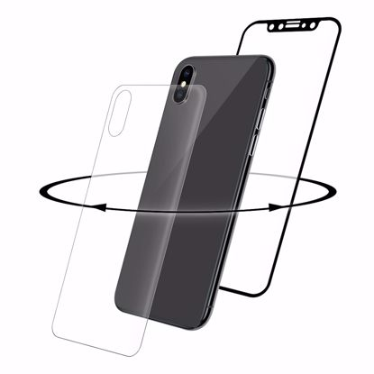 Picture of Eiger Eiger 3D 360 GLASS Tempered Glass Screen Protector for Apple iPhone XS/X in Clear/Black