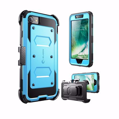 Picture of i-Blason i-Blason ArmorBox Case with Built-In Screen Protector for Apple iPhone 7 in Blue