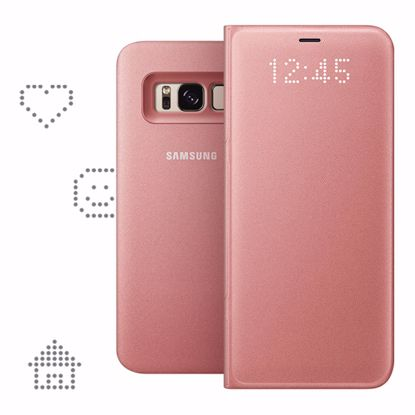 Picture of Samsung Samsung LED View Case for Samsung Galaxy S8 in Pink