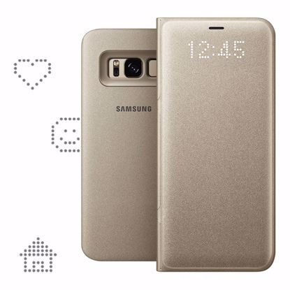 Picture of Samsung Samsung LED View Case for Samsung Galaxy S8 in Gold