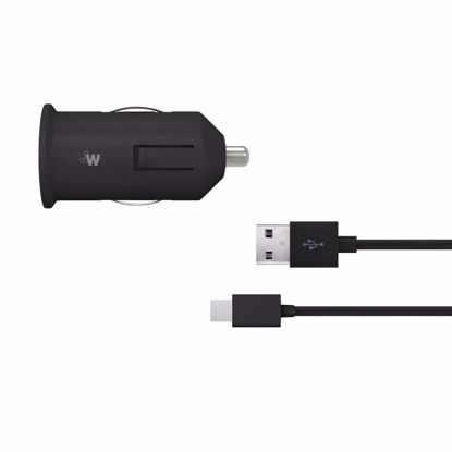 Picture of Just Wireless Just Wireless 2.4A Car Charger with USB Type-C Connector in Black