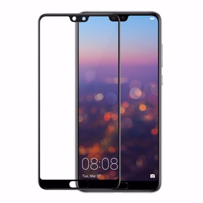 Picture of Gear GEAR 3D Edge to Edge Tempered Glass Screen Protector for Huawei P20 Pro in Clear/Black
