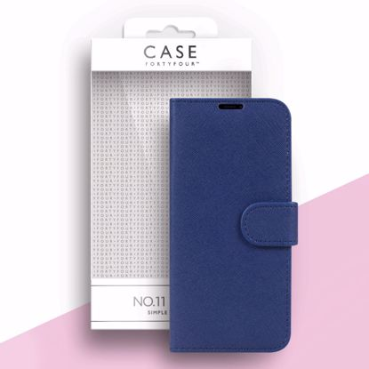 Picture of Case FortyFour Case FortyFour No.11 Case for Samsung Galaxy S21 in Cross Grain Dark Blue