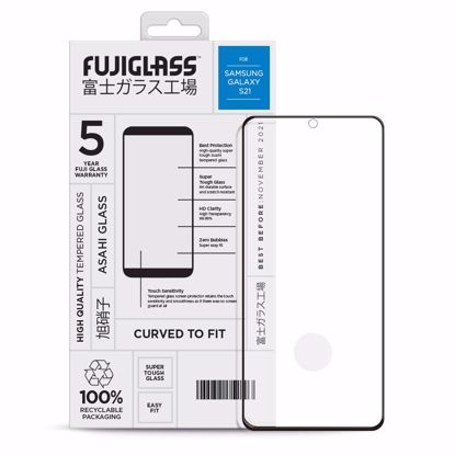 Picture of Fuji Fuji Curved-to-fit Screen Protector for Samsung Galaxy S21 in Clear/Black