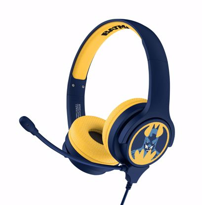 Picture of OTL OTL Batman Interactive Headphones with Boom Microphone in Blue/Yellow